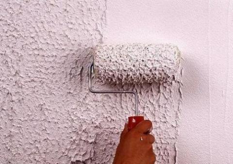 Цветная стена своими руками из штукатурки