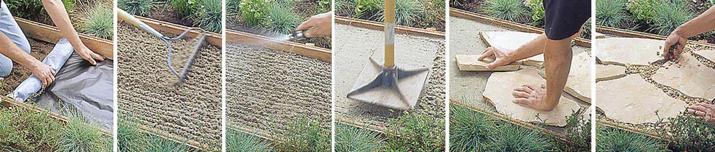 Как правильно сделать дорожки во дворе