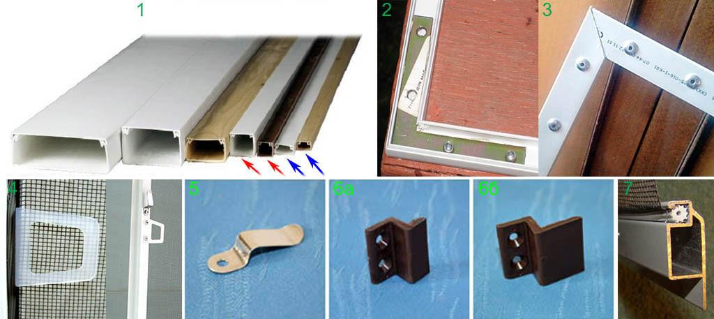 Монтаж москитных сеток на пластиковые окна своими руками 78