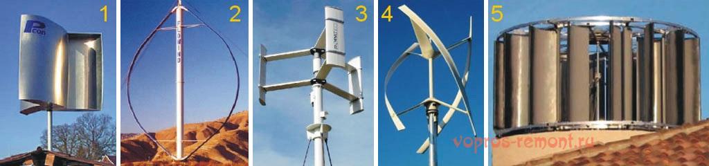 Ветрогенераторы вертикальные своими руками