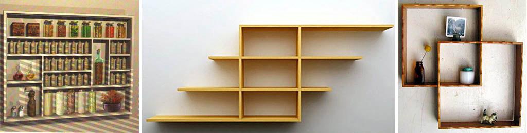 Полочки из картона на стену