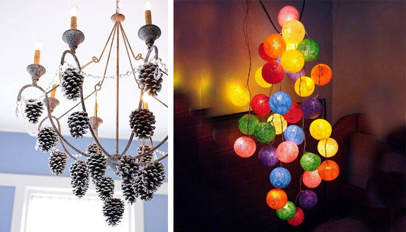 Люстры светильники своими руками из дерева фото