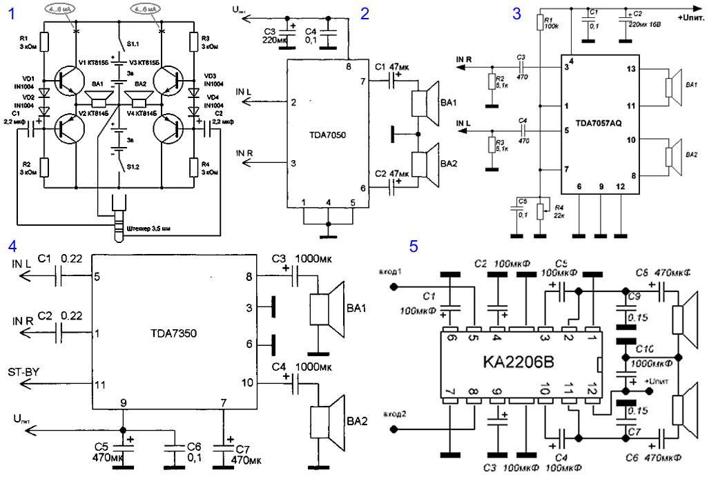 Схема простого звукового усилителя своими руками6
