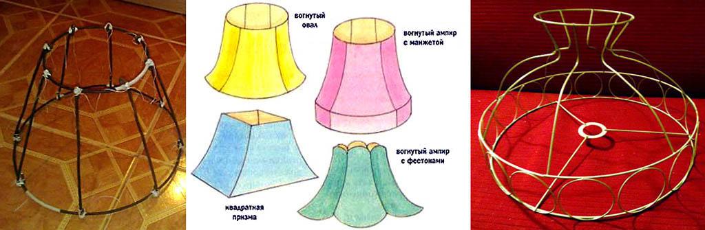 Сделать каркас для абажура для настольной лампы