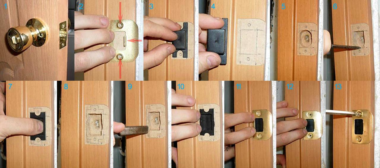 Устанавливаем межкомнатную дверь своими руками ручка 209